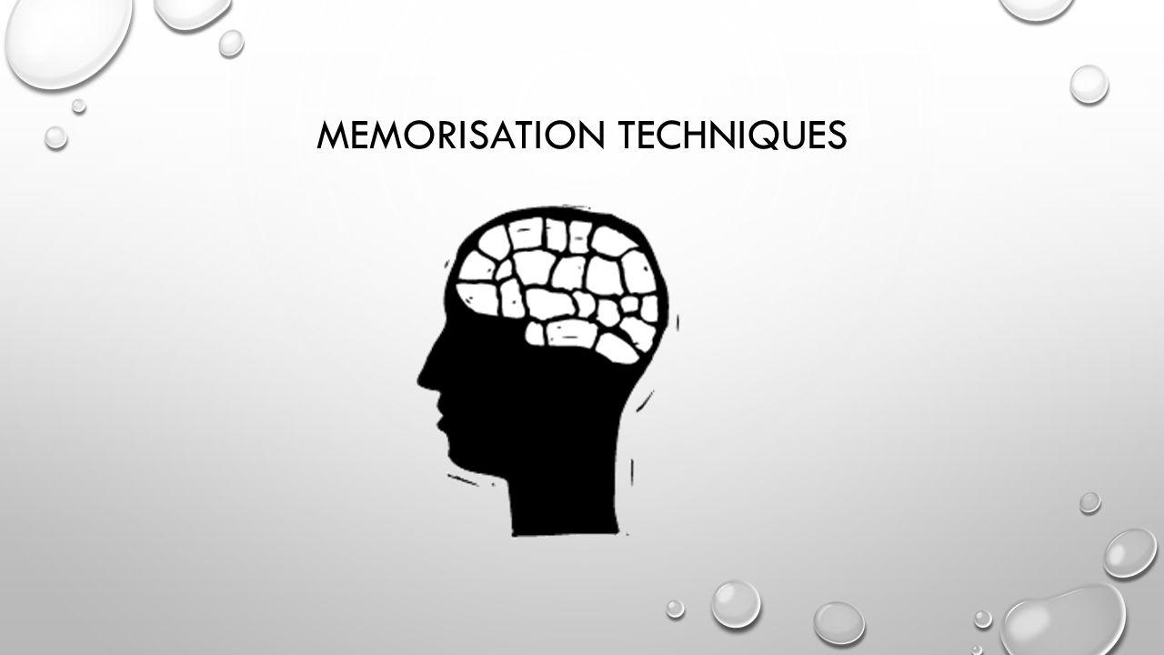 Memorisation techniques