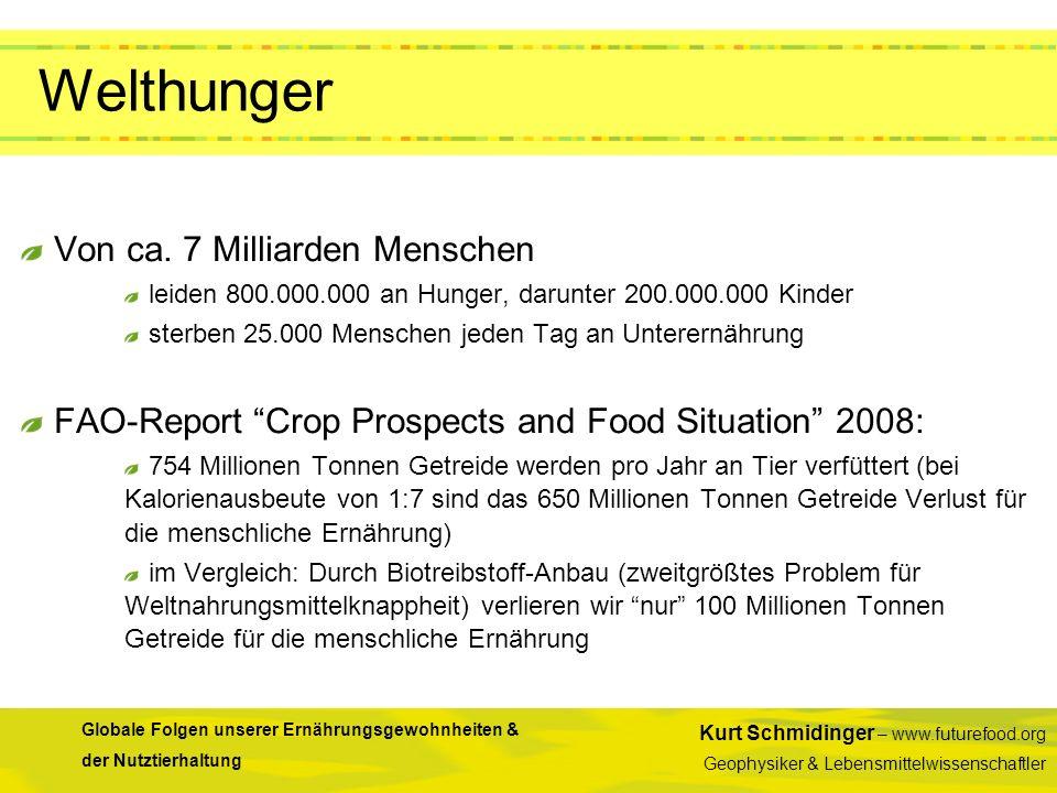 Welthunger Von ca. 7 Milliarden Menschen