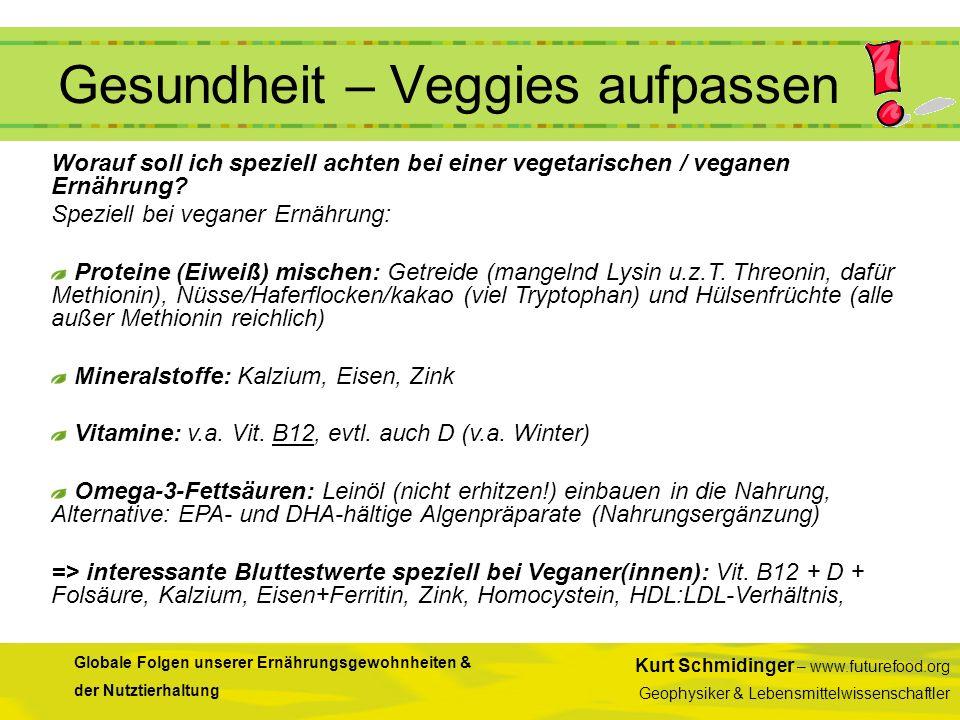 Gesundheit – Veggies aufpassen