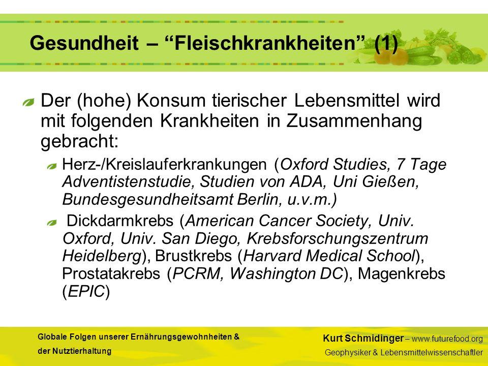 Gesundheit – Fleischkrankheiten (1)