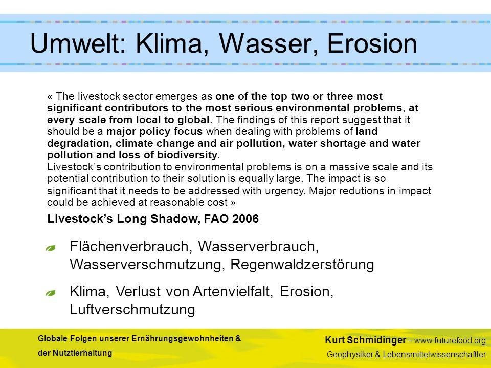 Umwelt: Klima, Wasser, Erosion