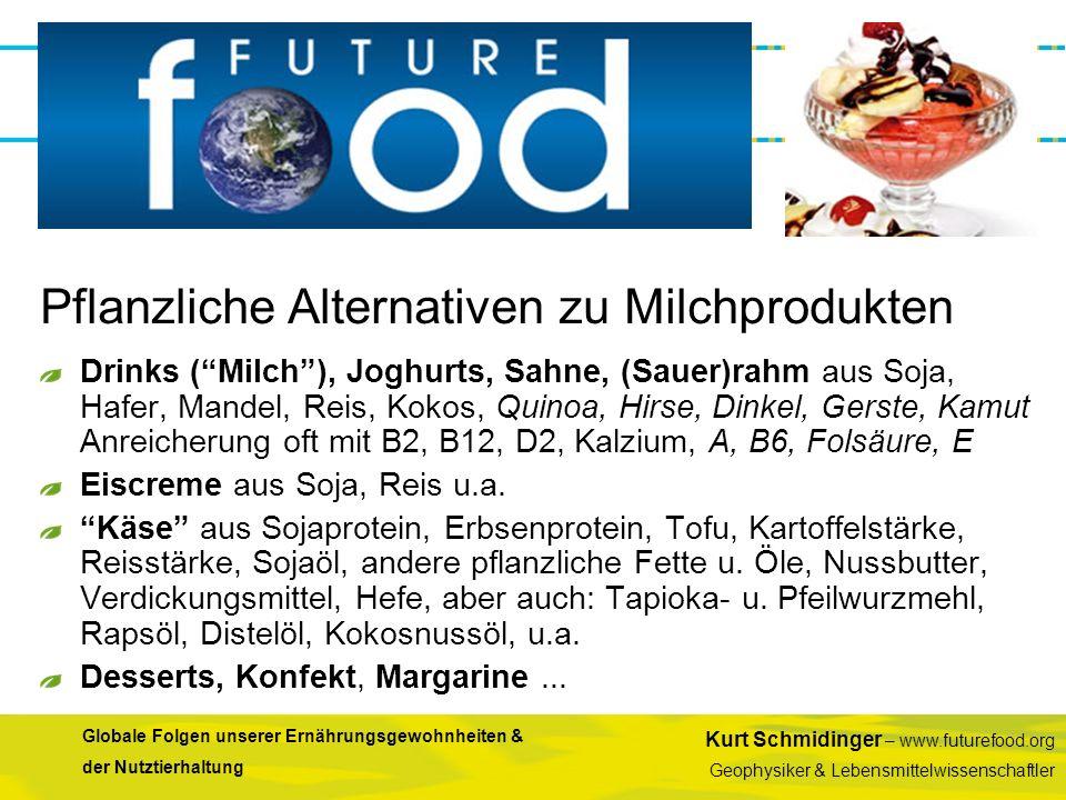 Pflanzliche Alternativen zu Milchprodukten