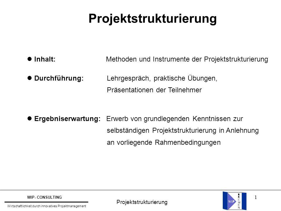 Projektstrukturierung