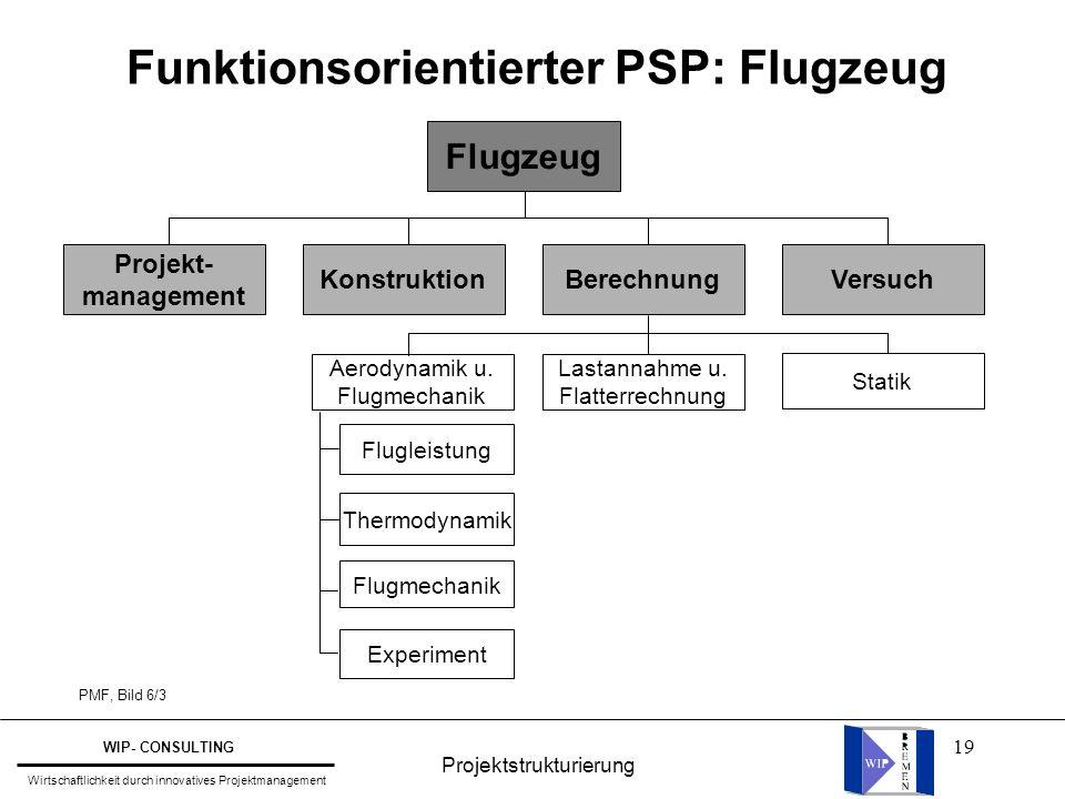 Funktionsorientierter PSP: Flugzeug