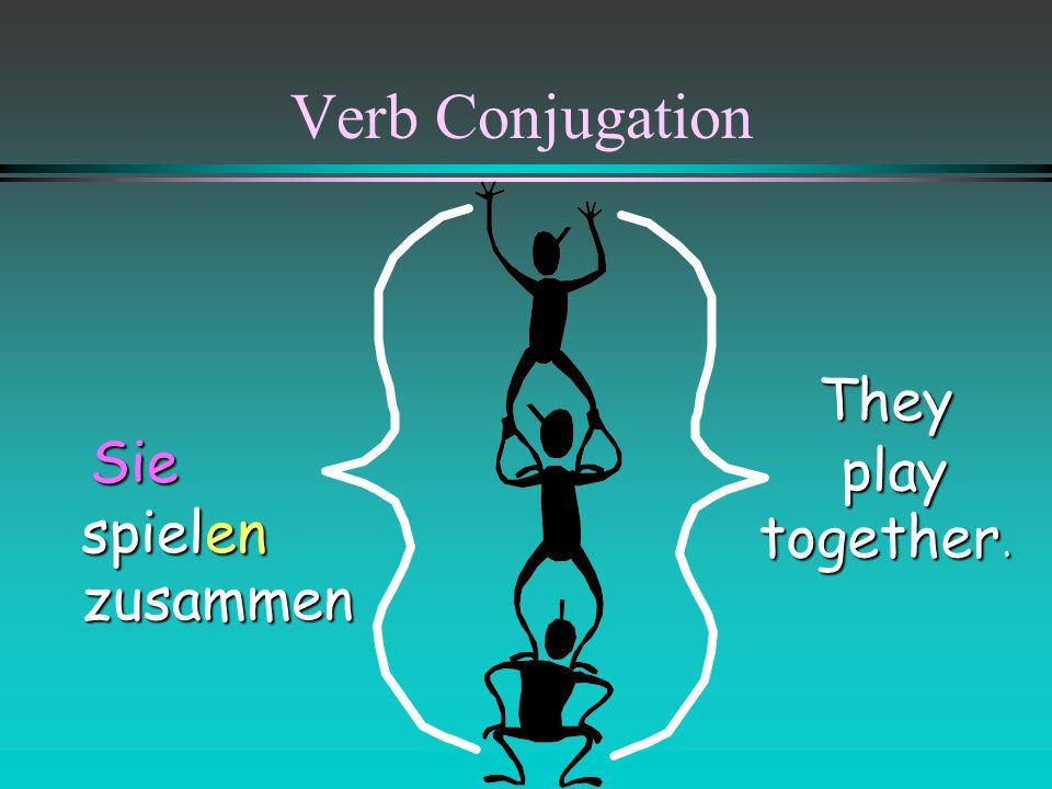 Verb Conjugation They play together. Sie spielen zusammen