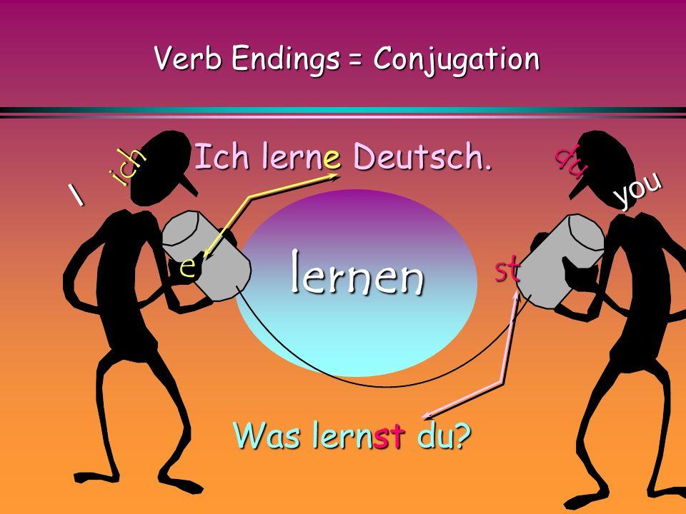 Verb Endings = Conjugation