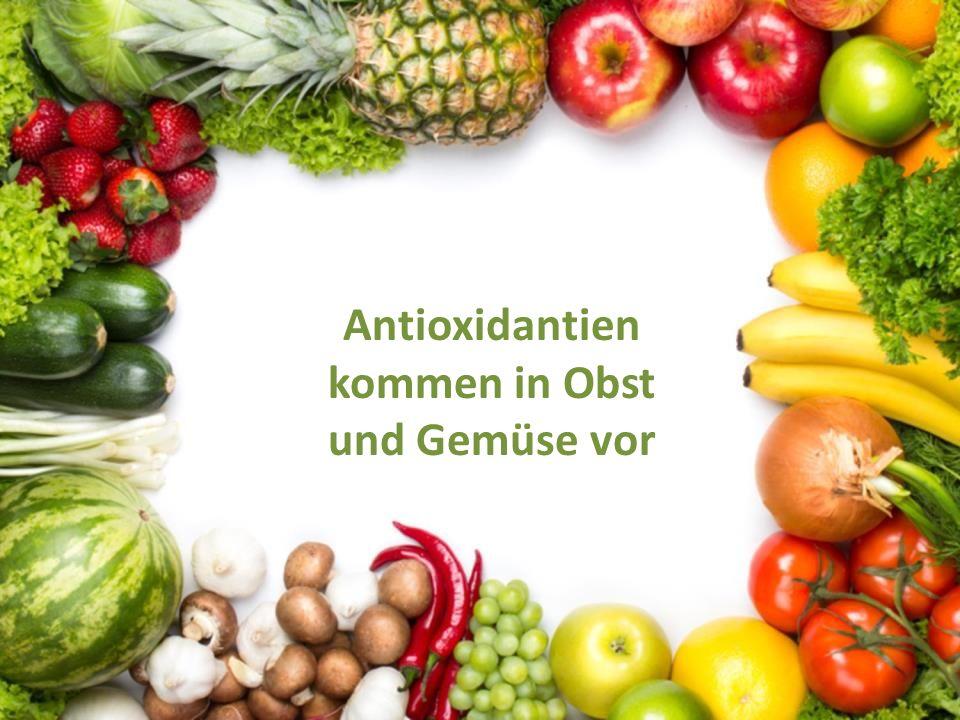 Antioxidantien kommen in Obst und Gemüse vor