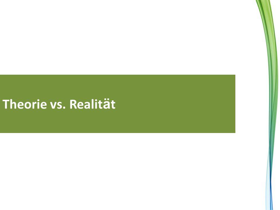 Theorie vs. Realität