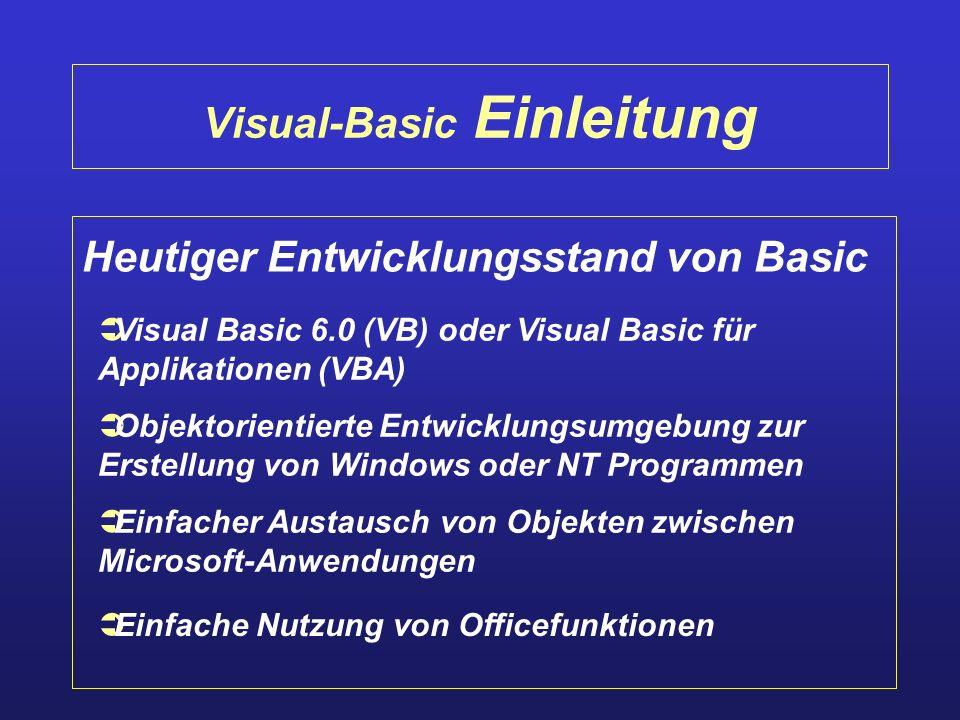 Visual-Basic Einleitung