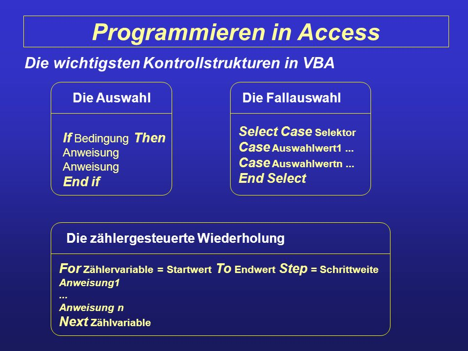 Programmieren in Access