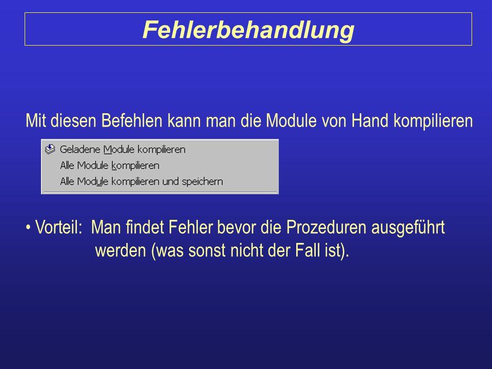 Mit diesen Befehlen kann man die Module von Hand kompilieren