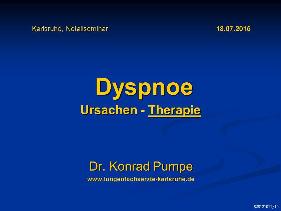 Dyspnoe Ursachen - Therapie