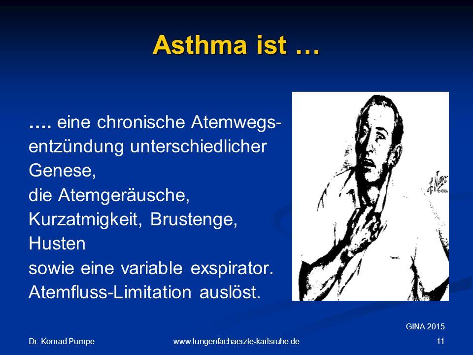 Asthma ist … …. eine chronische Atemwegs- entzündung unterschiedlicher