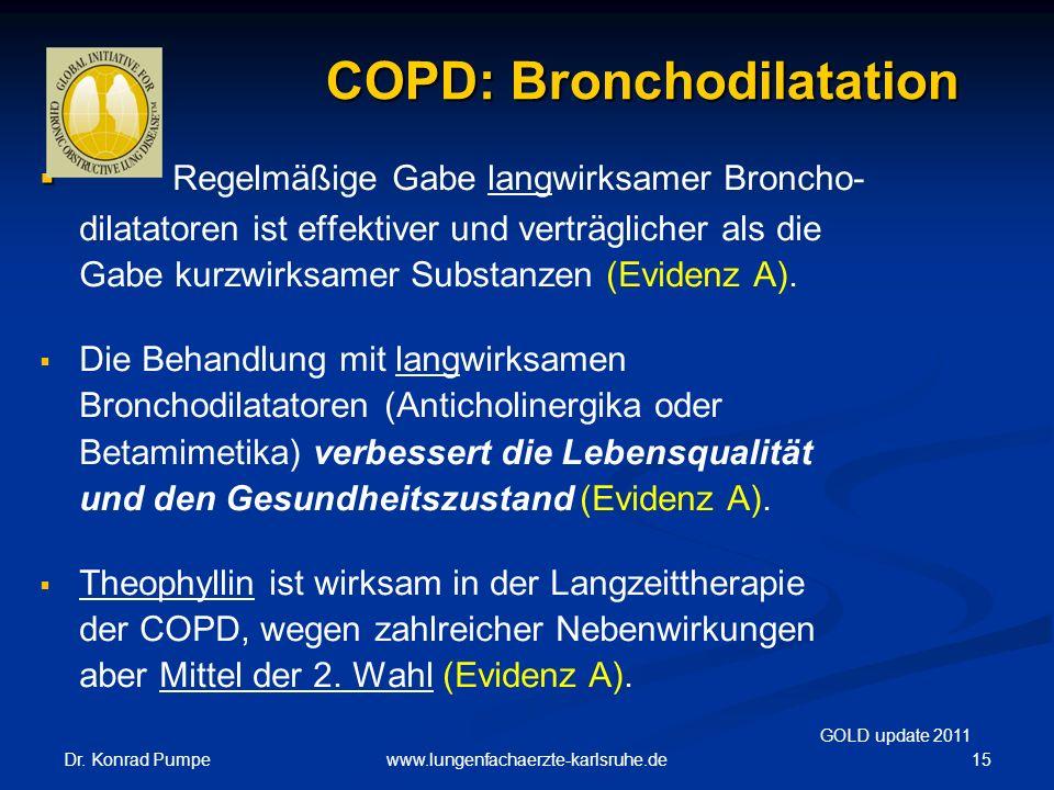 COPD: Bronchodilatation