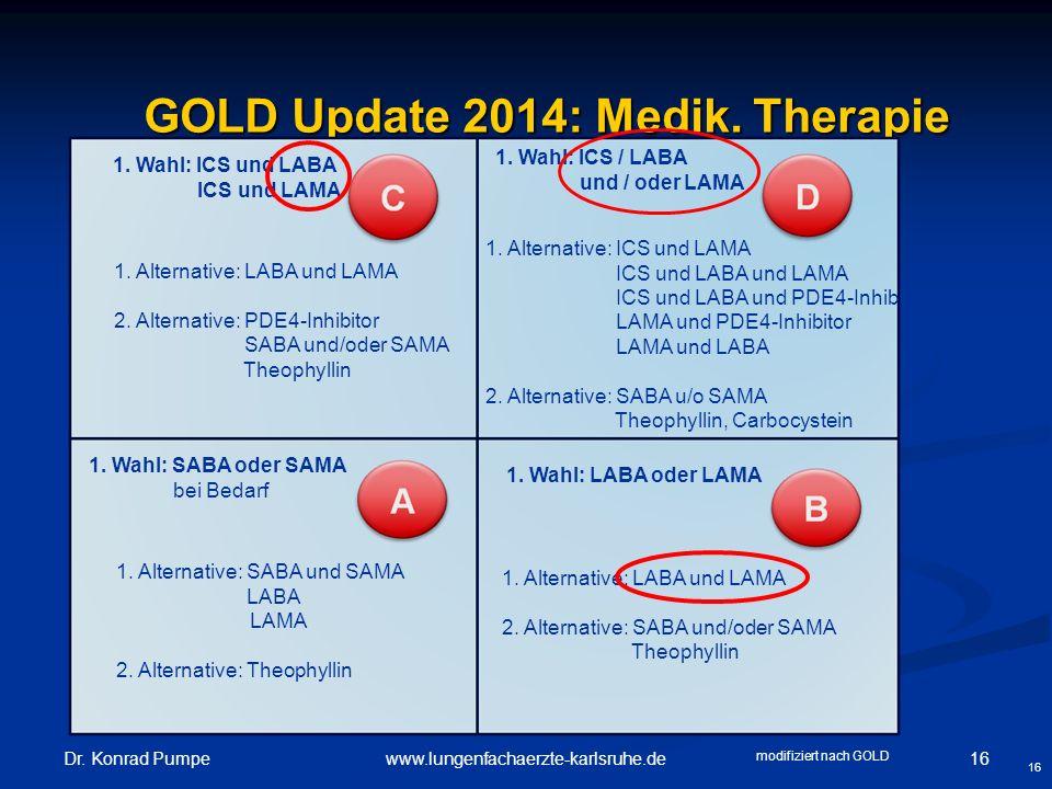 GOLD Update 2014: Medik. Therapie