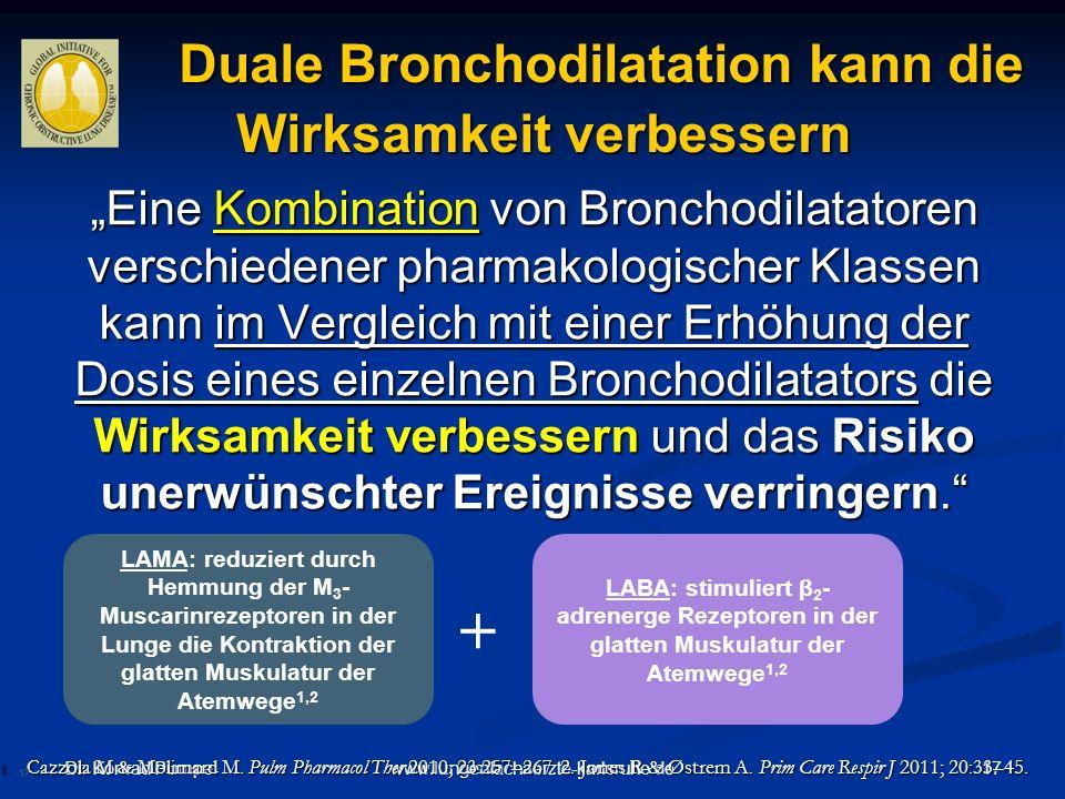 Duale Bronchodilatation kann die Wirksamkeit verbessern