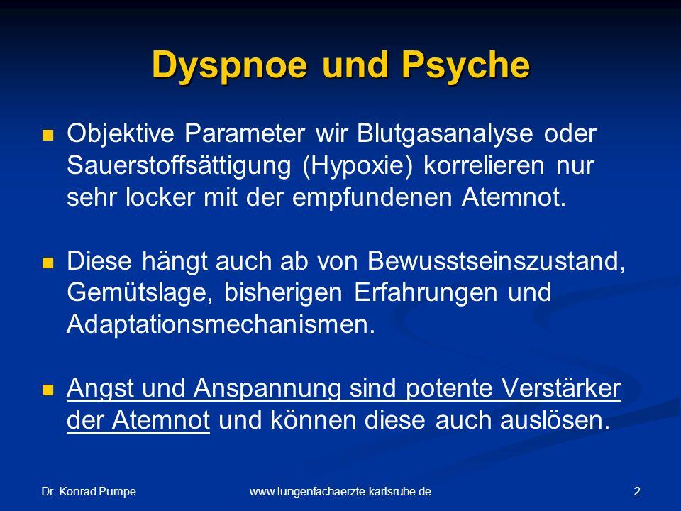 Dyspnoe und Psyche Objektive Parameter wir Blutgasanalyse oder