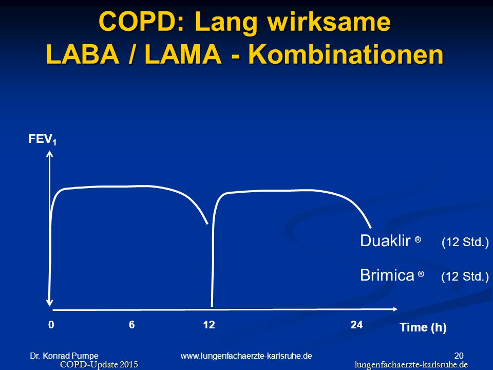 COPD: Lang wirksame LABA / LAMA - Kombinationen