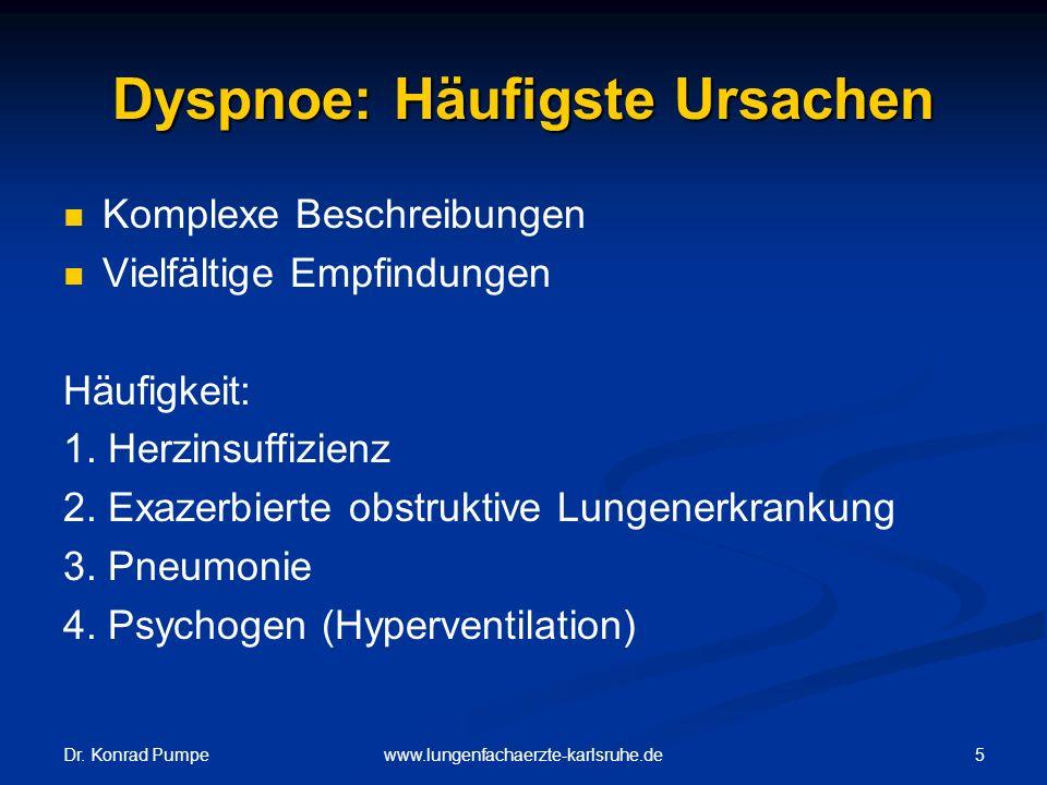 Dyspnoe: Häufigste Ursachen