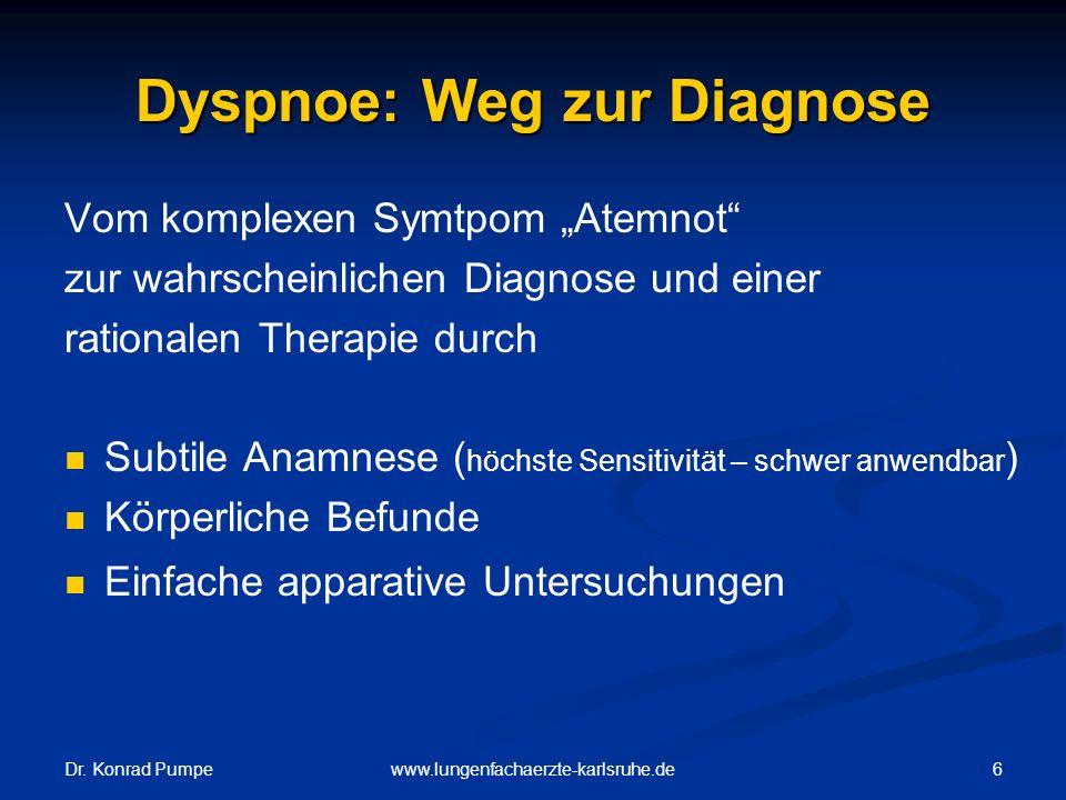 Dyspnoe: Weg zur Diagnose