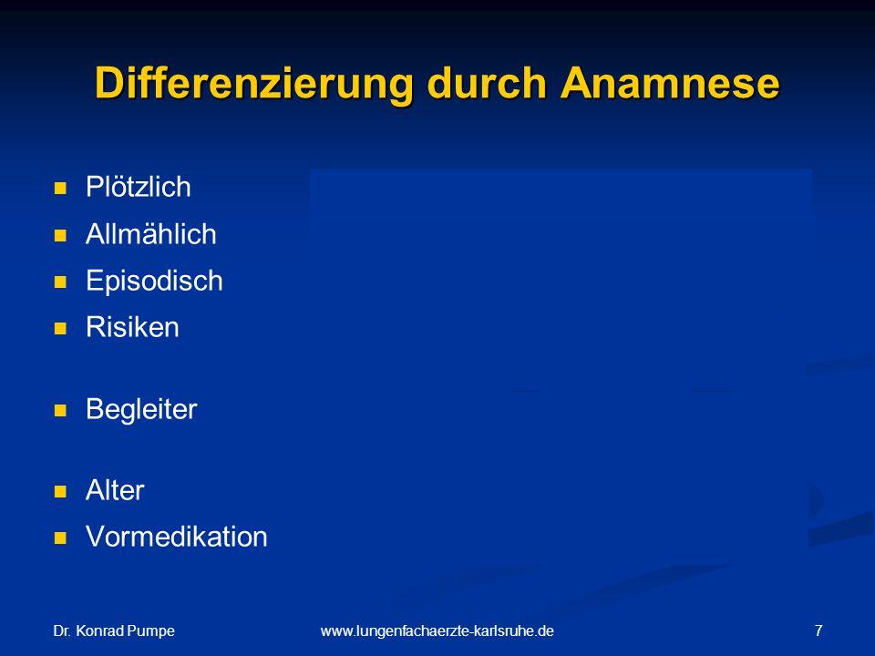 Differenzierung durch Anamnese