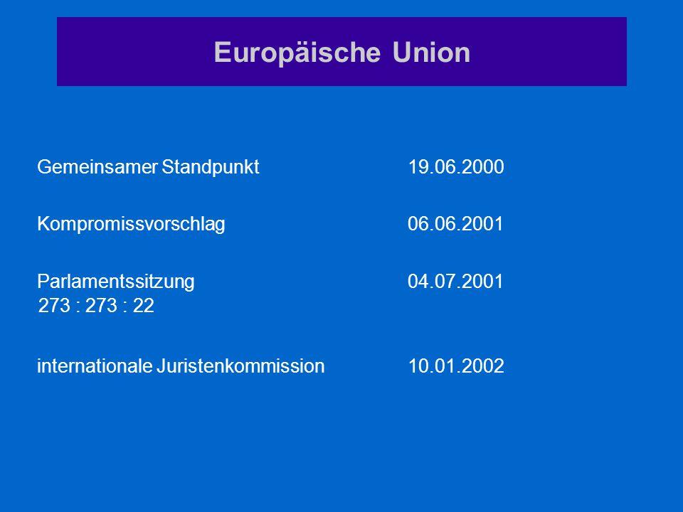 Europäische Union Gemeinsamer Standpunkt 19.06.2000