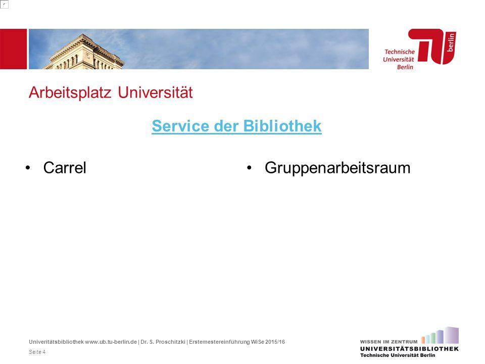 Arbeitsplatz Universität