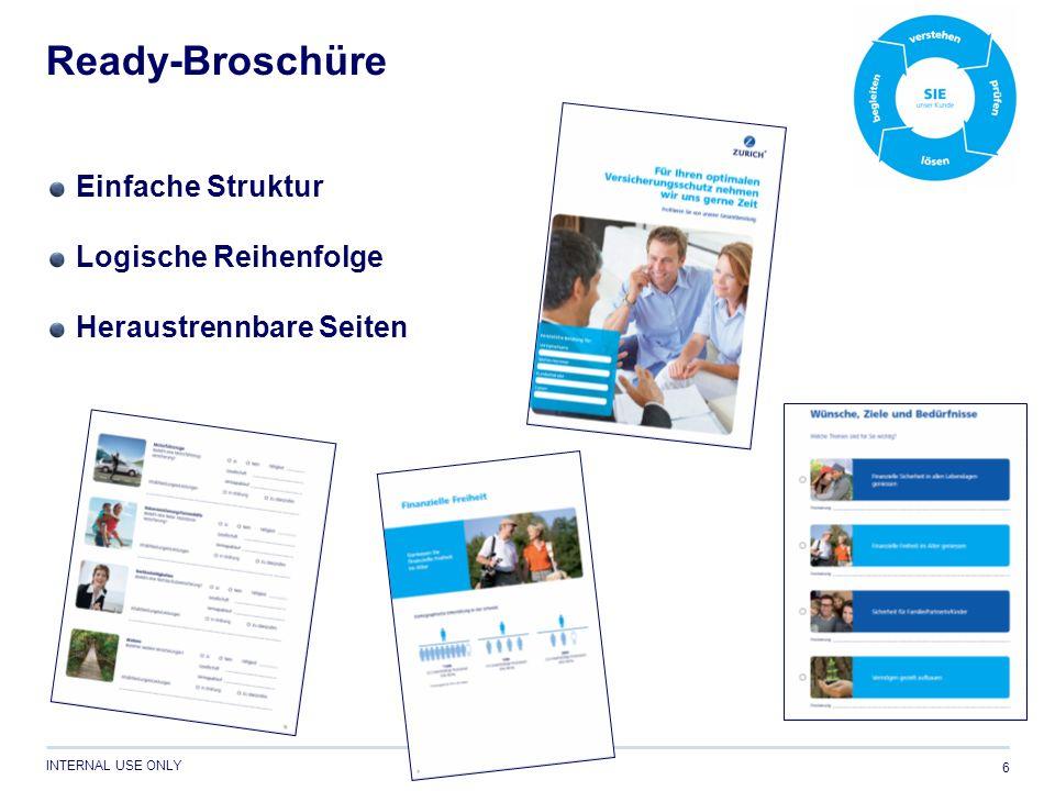 Ready-Broschüre Einfache Struktur Logische Reihenfolge