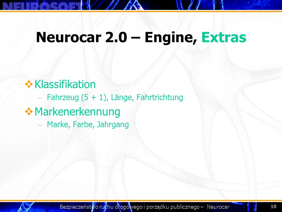 Neurocar 2.0 – Engine, Extras