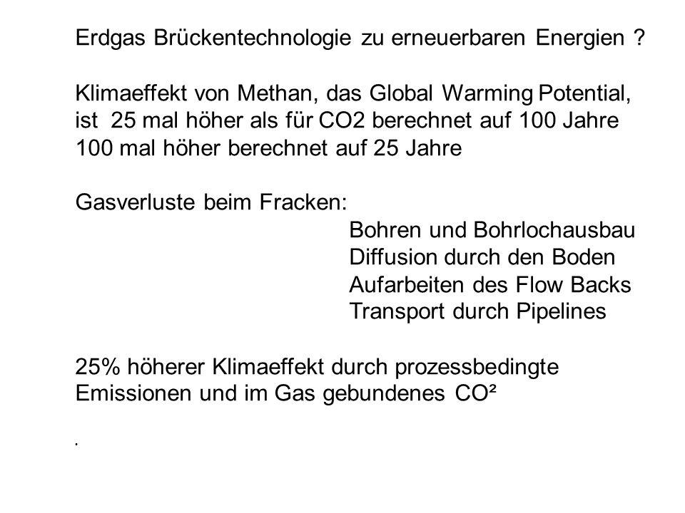 Erdgas Brückentechnologie zu erneuerbaren Energien