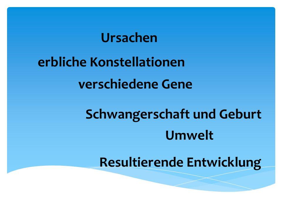 Ursachen erbliche Konstellationen. verschiedene Gene.