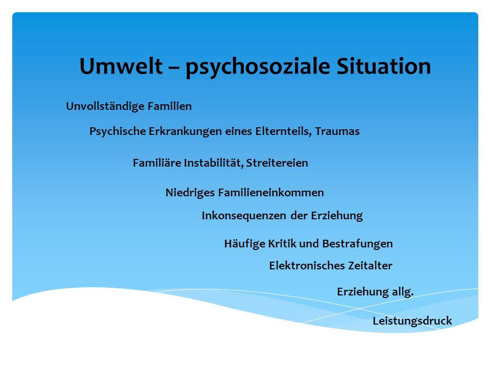 Umwelt – psychosoziale Situation