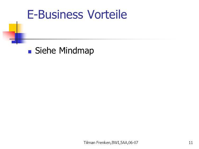 E-Business Vorteile Siehe Mindmap Tilman Frenken,BWI,5AA,06-07
