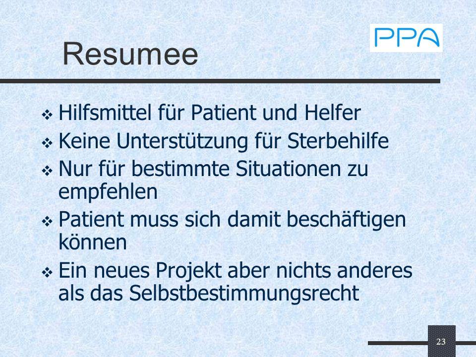 Resumee Hilfsmittel für Patient und Helfer