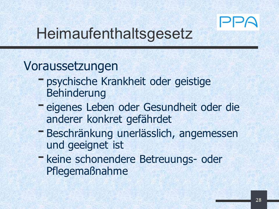 Heimaufenthaltsgesetz