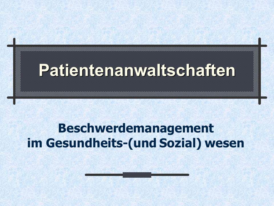 Patientenanwaltschaften