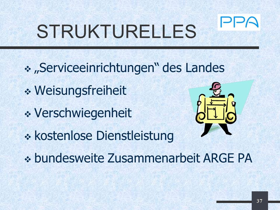 """STRUKTURELLES """"Serviceeinrichtungen des Landes Weisungsfreiheit"""