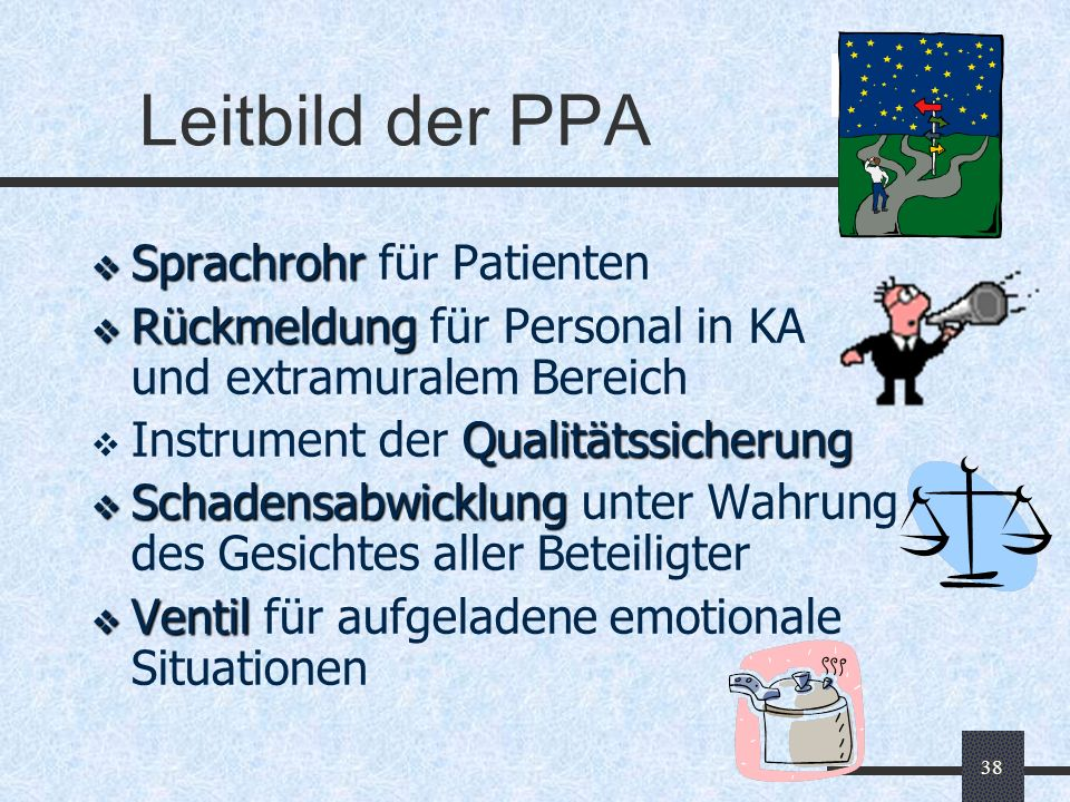 Leitbild der PPA Sprachrohr für Patienten