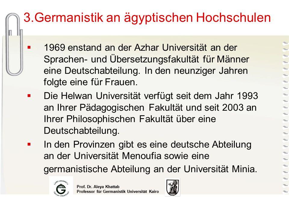 3.Germanistik an ägyptischen Hochschulen