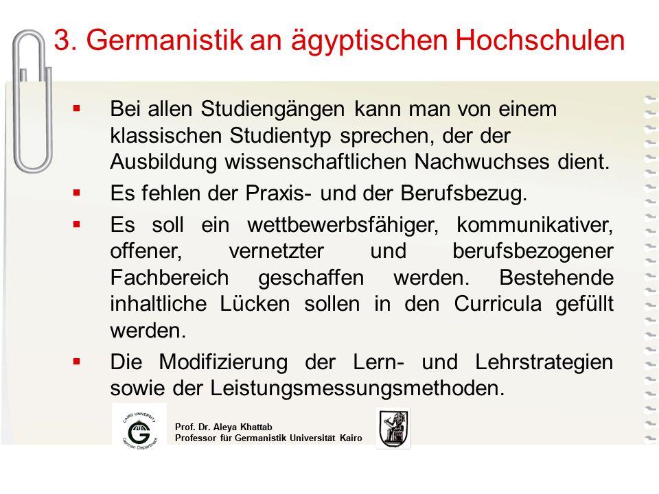 3. Germanistik an ägyptischen Hochschulen