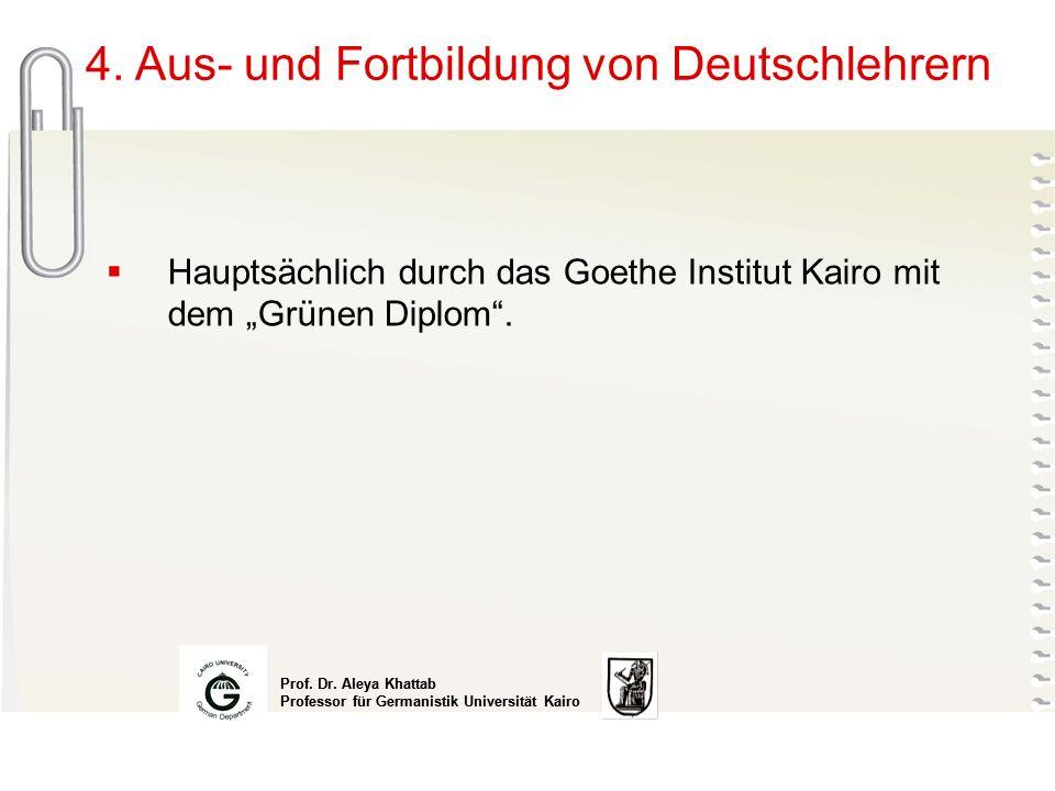 4. Aus- und Fortbildung von Deutschlehrern