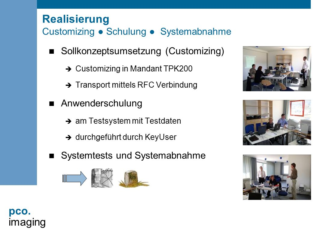 Realisierung Customizing ● Schulung ● Systemabnahme