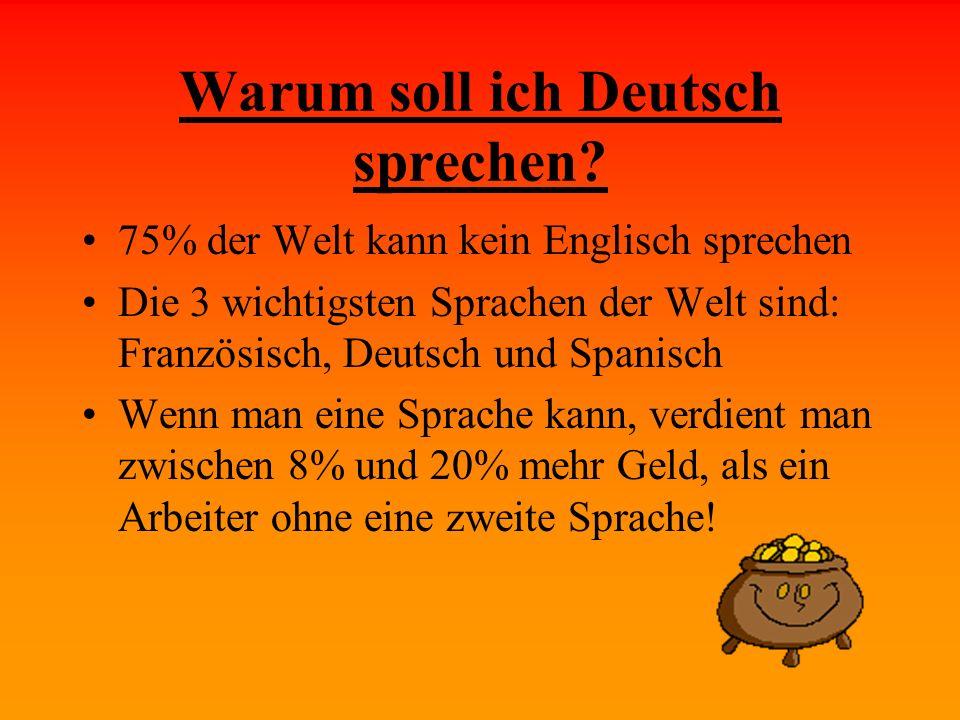 Warum soll ich Deutsch sprechen