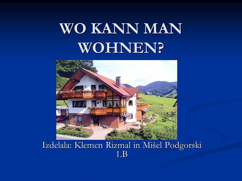 Izdelala: Klemen Rizmal in Mišel Podgorski 1.B
