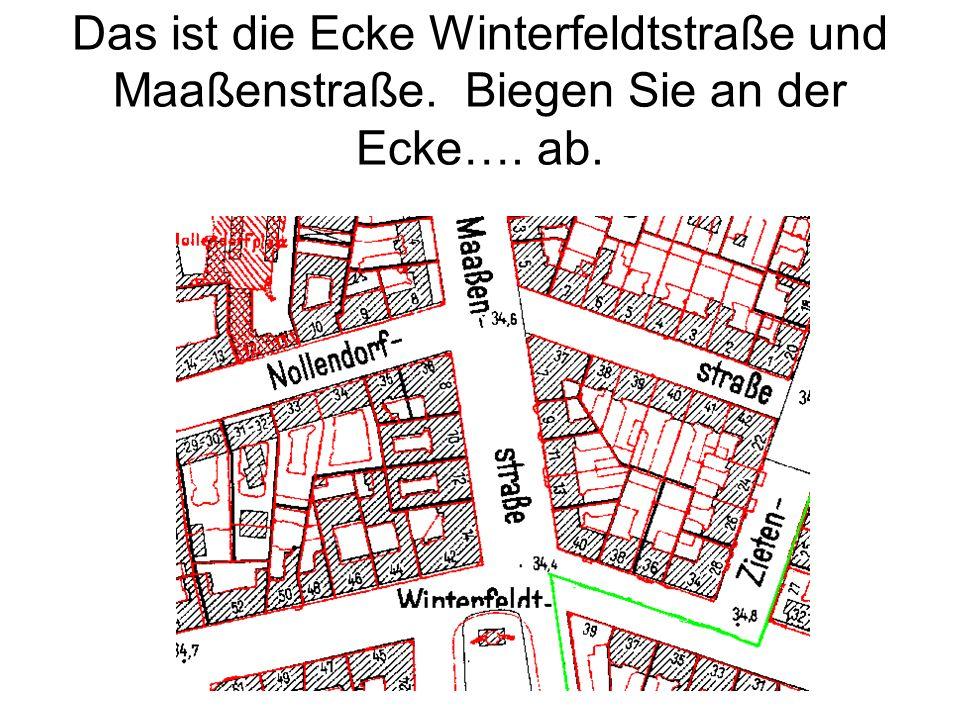 Das ist die Ecke Winterfeldtstraße und Maaßenstraße