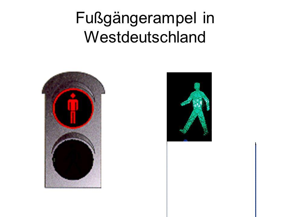 Fußgängerampel in Westdeutschland