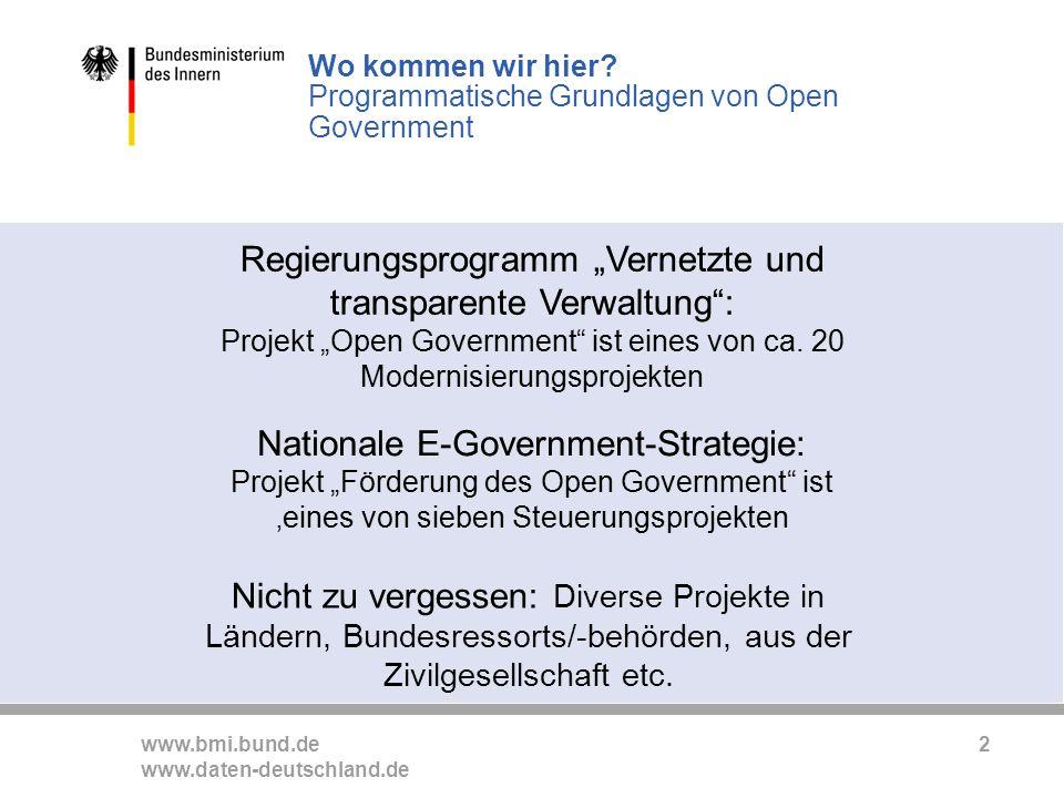 Wo kommen wir hier Programmatische Grundlagen von Open Government