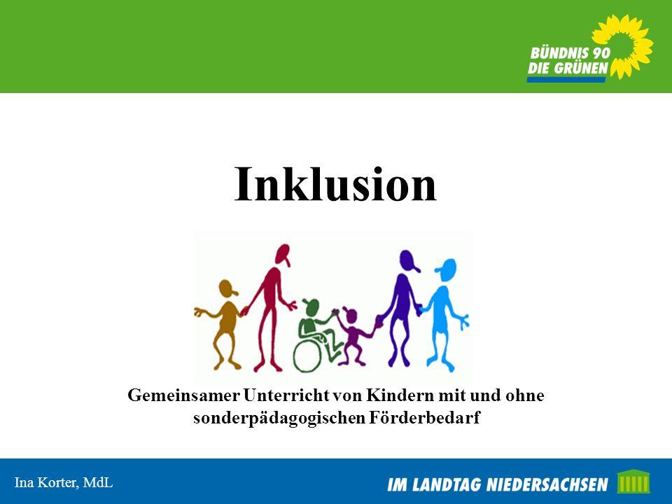 InklusionGemeinsamer Unterricht von Kindern mit und ohne sonderpädagogischen Förderbedarf.