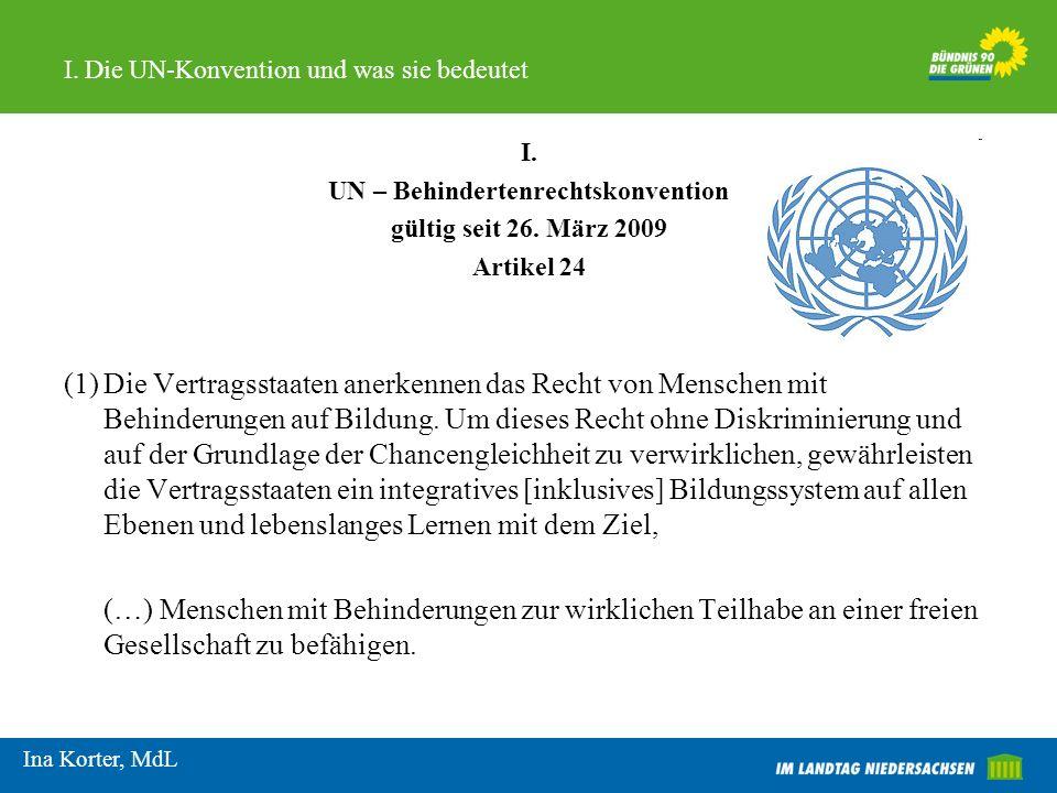 I. Die UN-Konvention und was sie bedeutet