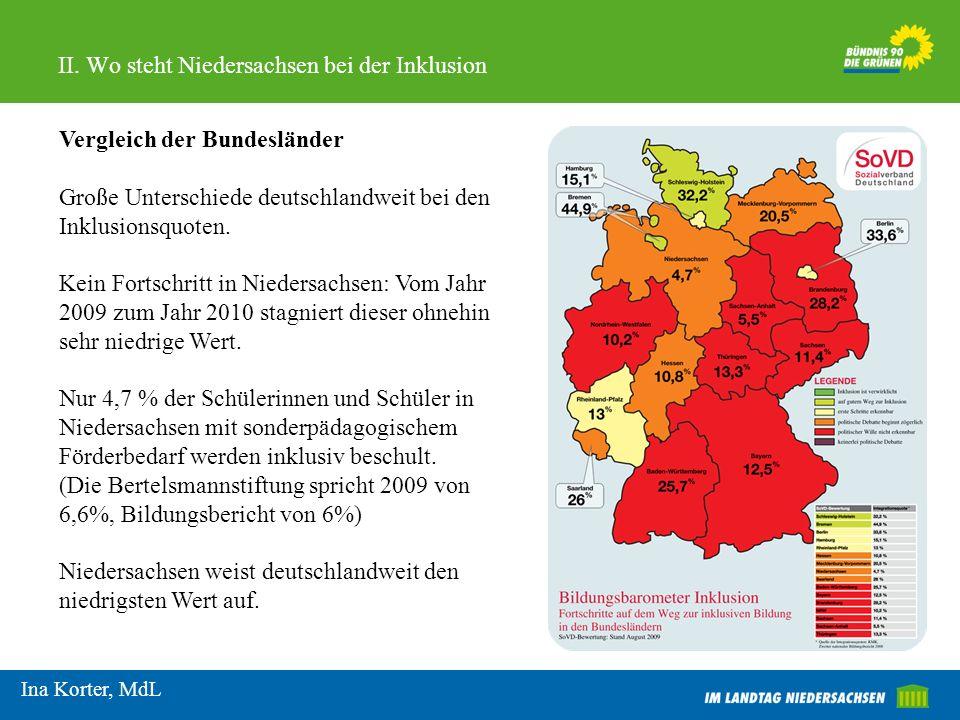 II. Wo steht Niedersachsen bei der Inklusion